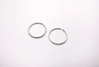 Silver Nose Ring Hoop Ear Septum Helix Cartilage Tragus Small Thin Piercing 2
