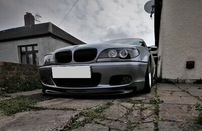 BMW 3 e46 CSL style front lip for msport 2 mtech bumper