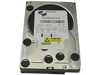 """HDD 2TB (2000GB) 32MB Cache 7200RPM SATA2 3.5"""" Desktop Hard Drive - PC/Mac/DVR"""