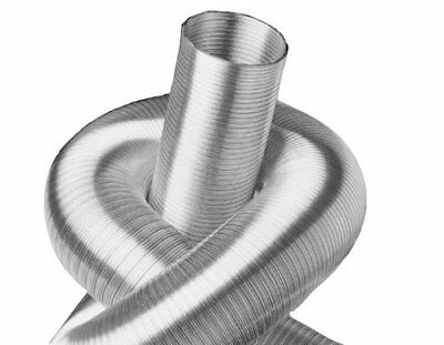 Alu Flexrohr 5m 50mm zweilagig, flexibles Aluminium Lüftungsrohr Flex Schlauch