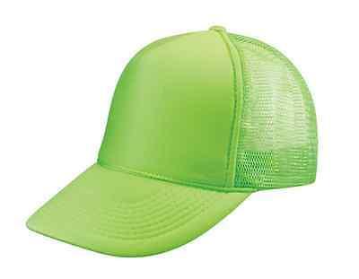 ... 1 Dozen Blank Neon Foam Mesh Trucker Hats Caps Solid Two Tone Wholesale  Bulk 2 7e5caaddf22e