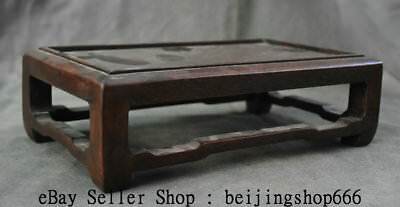 "12"" Collect Rare Old Chinese Huanghuali Wood Dynasty Palace Table Desk Furniture 5"