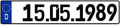 Wunschkennzeichen,Kennzeichen Nach Wahl 1:43 Deutschland,Niederlanden,Österreich 9