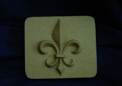 Decorative Square Fleur De Lis Plaster or Soap Mold 4631 Moldcreations QTY 2