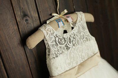 Lace Rosette Keyhole Flower Girl Dress/Communion/Baptism/Junior Bridesmaid Dress 4
