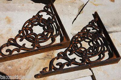 (2) Christmas Gift For Him, Cobweb Shelf Brackets, Rustic Barn Decor, B-7 2