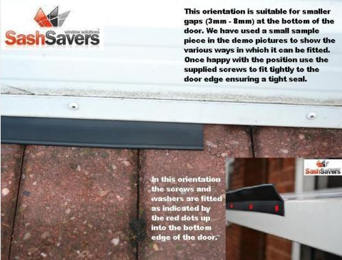 Garage door weather seal rubber draught proofing - easy fit - insulate 11