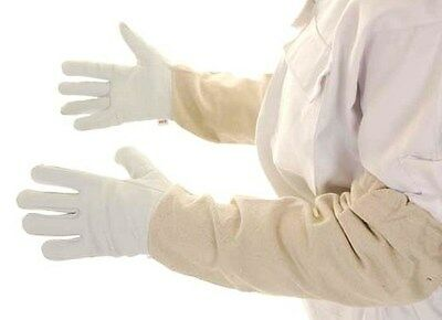 BUZZ Beekeepers White Bee suit with Fencing Veil and White Soft Hide Gloves