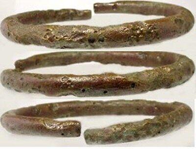 100AD Genuine Ancient Roman Judaea Israel Palestine Bronze Punch Dot Bracelet 3