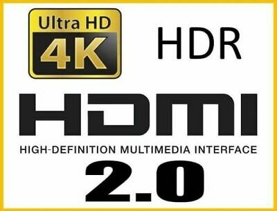 lot 2/ 1 2m Cable hdmi 2.0 4K 60Hz Full ultra HD 3D HDTV HDR 18GB 1,5 2 3 5 10 m 6