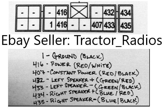kioti tractor radio wire harness nx rx ck connector cd in dash stereo plug  7 7 of 9
