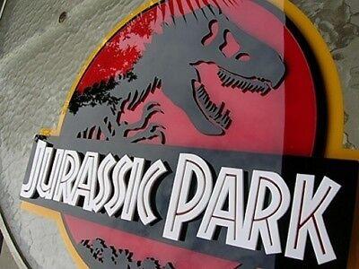 JURASSIC PARK 3D ART sign new  Fossil Dinosaur clean version movie  Dino 12 inch 2