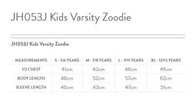 AWDis Just Hoods Kids Varsity Zoodie - Boys girls zipped hoodie|Ages 3-13 2