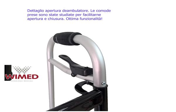 Deambulatore Girello Pieghevole Regolabile In Altezza Anziani E Disabili Wimed 3