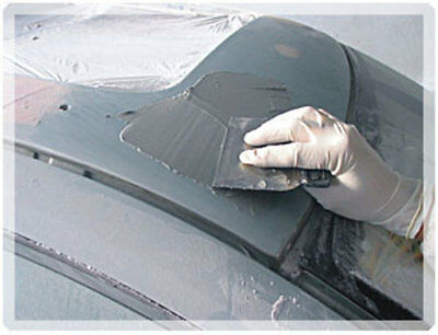1 Mastic alu 600 grs+ durcisseur, fer, alu, acier, métal, carrosserie (MR04) 2
