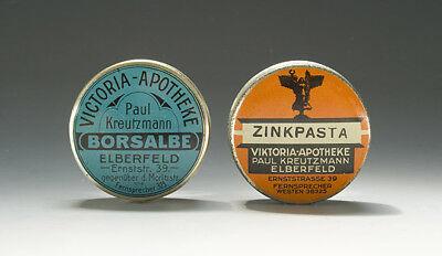 Konvolut 5 APOTHEKEN BLECHDOSEN um 1910-30