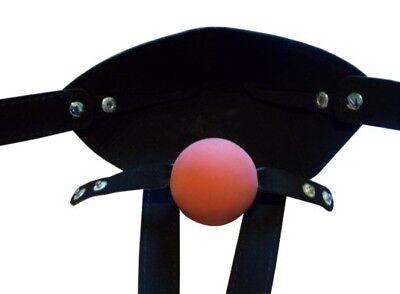 Bondage Maulkorb mit Ball Mund Knebel 45mm schwarz Mundknebel 2