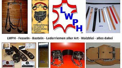 6 Lederriemen Braun 24,0 x 2,0 cm doppelter Metallschlaufe Nostalgie Kinderwagen