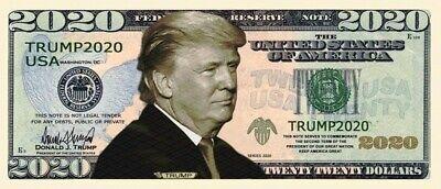 President Donald Trump 2018 Dollar Bill Fake Play Funny Money Note FREE SLEEVE