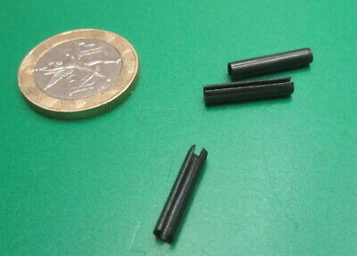 Steel Metric Slotted Spring Pin, M3 Dia x 16 mm Length, 200 pcs 10