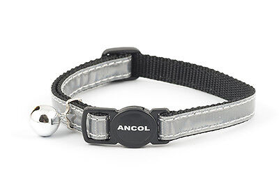 ANCOL REFLECTIVE CAT COLLARS mixed colours 3, 6 or 12 pack deal 3
