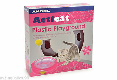 ACTICAT PLASTIC PLAYGROUND with spring loaded Pom-Pom & Super fast Ball Track 2