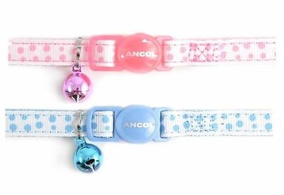 Ancol Cat Collar in Pink or Blue, With or Without a Engraved Pet ID Tag / Tags 2