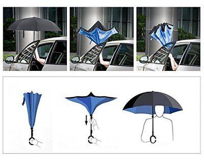 Ombrello  Inverso Reversibile Apertura Al Contrario Rovesciato Anti Pioggia Moda 3