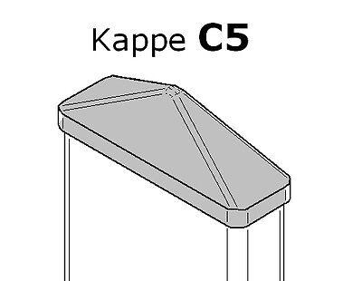 Zaunkappen C5 weiss für Kunststoffzaun Lattenzaun Staketenzaun spitzform