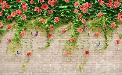 rote Wand 5666 Fototapeten Wandbild Fototapete BildTapete Familie 3D Grün