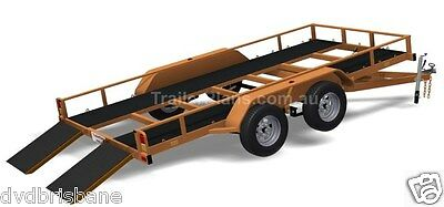 Trailer Plans - TILT FLATBED CAR TRAILER PLANS (14x6ft) - 2500kg - PLANS ON USB 8