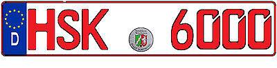 Wunschkennzeichen,Kennzeichen Nach Wahl 1:43 Deutschland,Niederlanden,Österreich 5