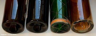4 x leere Schauflaschen - Dekoflaschen zur Schaufensterdekoration um 1960-65 !? 5