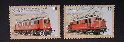 1992- Sahara OCC R.A.S.D. Set of 5 x Locomotive Stamps MUH