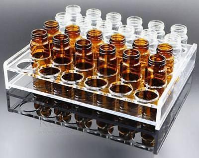 100 Pièces 2 ML Échantillon Flacons + Bouchons Transparent Verre Ambre 8-425 2