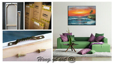 Large Modern Hand-painted Colorful Abstract OIL Painting Canvas Wall Art Framed 10