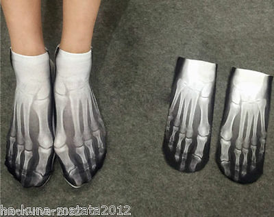 UK Sale: MINNIE MOUSE Trainer Short SOCKS UK Shoe 3-7, 1 pr 3D Digital Photo Sox 4