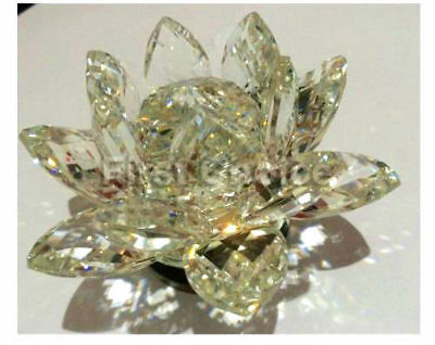 Large Clear Crystal Lotus Flower Ornament With Gift Box  Crystocraft Home Decor 4