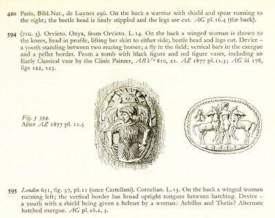 Engraved Ancient Archaic Greek Etruscan Phoenician Gems 6th-5th Century BC Pix 5