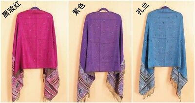 US SELLER- 20 Discount Scarves retro paisley peacock wholesale pashmina shawls 10