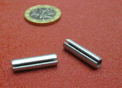 """Zinc Plate Steel Slotted Roll Spring Pin, 3/16"""" Dia x 3/4"""" Length, 250 pcs 10"""