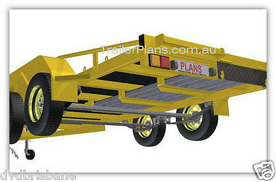 Trailer Plans - 2500KG FLATBED CAR TRAILER PLANS - TANDEM AXLE - PLANS ON CD-ROM 6