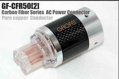 1Set HiFi GF-JSR50M Red Copper Rhodium Plated US Mains AC Power Plug Connector