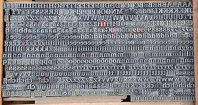 SCHADOW hf 20° Bleischrift Bleisatz Buchdruck Alphabet Handsatz Bleilettern ABC 2