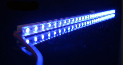 RGB Aluminium Aquarium Teichfische LED Beleuchtung  Lampe Strip Leiste Netzteil 4