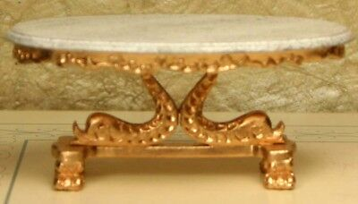 """Duville Gilt Pink Gold Couch MUSEUM QUALITY DOLLHOUSE FURNITURE 1:12 1/"""" BESPAQ"""