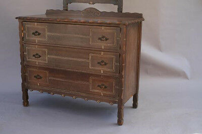3 Of 5 1930s Dresser W Mirror Drawers Spanish Revival Rancho Monterey Antique 3748