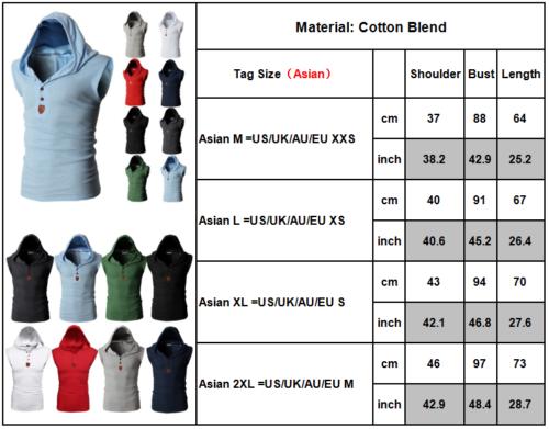 9 von 12 Herren Ärmellos Kapuzenpullover Sweatshirt Weste Sweatjacke Sport  Muskel T Shirt 176c322d70