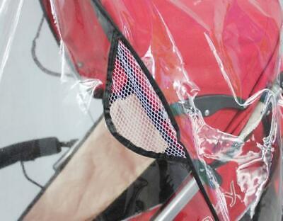 Quality Universal Buggy Pushchair Stroller Pram Transparent Rain Cover Vent Baby 4