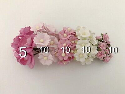 Special 45 Paper Flower Kit Packs Scrapbook Cards Wedding Home Craft Supply 3SnR 2